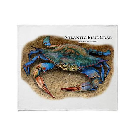 Atlantic Blue Crab Throw Blanket