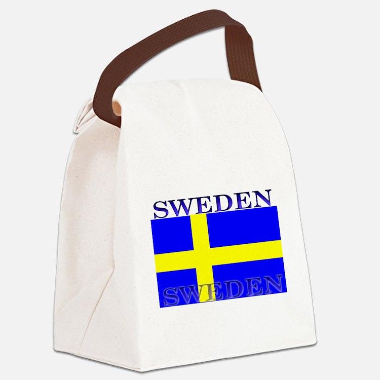 Swedenblack.png Canvas Lunch Bag