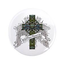 """MacKenzie Tartan Cross 3.5"""" Button"""