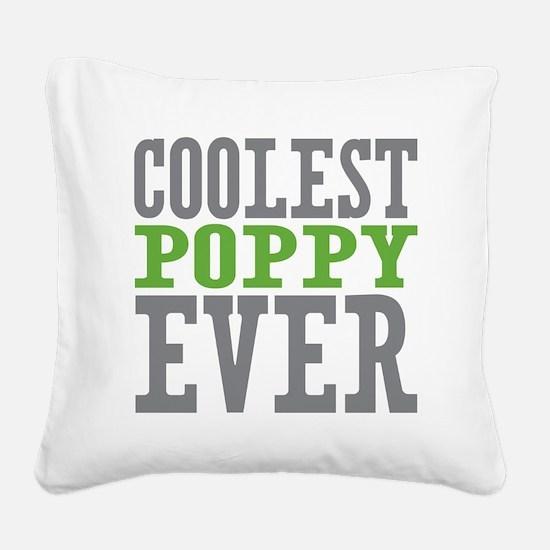 Coolest Poppy Square Canvas Pillow