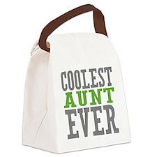 Coolest Aunt Canvas Lunch Bag