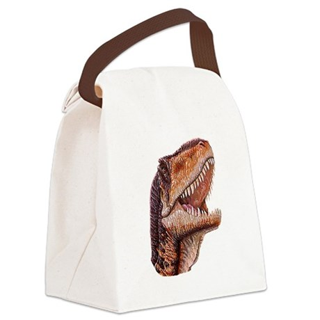 DinoHead.png Canvas Lunch Bag