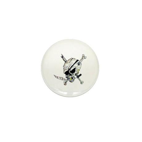 Original Skull Pirate design Mini Button (10 pack)