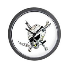 Original Skull Pirate design Wall Clock