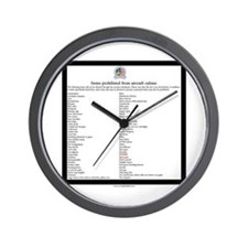 Carry-on guidelines Wall Clock