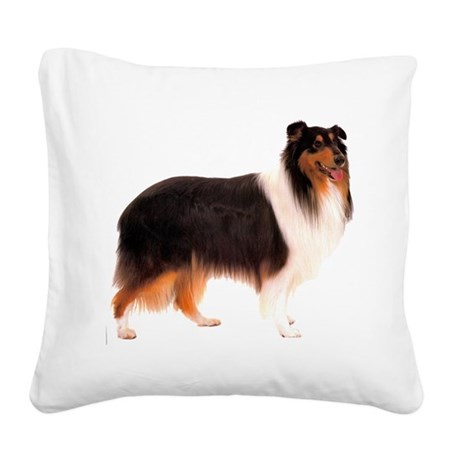 CollieBlackStriped.png Square Canvas Pillow