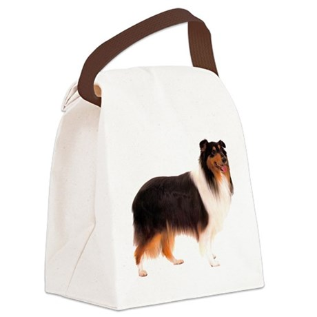 CollieBlackStriped.png Canvas Lunch Bag