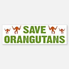 Save Orangutans Bumper Bumper Bumper Sticker