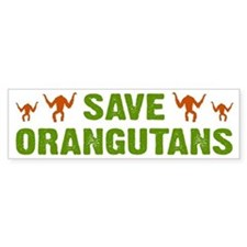 Save Orangutans Bumper Car Sticker