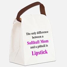 2-SoftballMom.png Canvas Lunch Bag