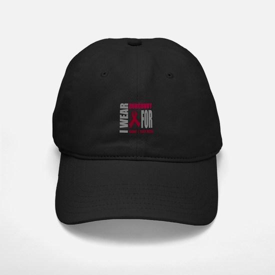 Burgundy Awareness Ribbon Cus Baseball Hat