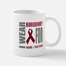 Burgundy Awareness Ribbon Custom Mug