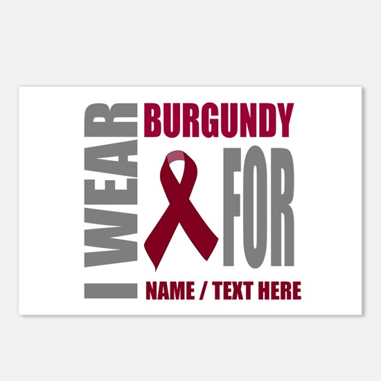 Burgundy Awareness Ribbon Postcards (Package of 8)