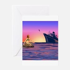 Mermaid at Sunset Greeting Card