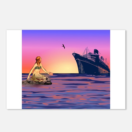 Mermaid at Sunset Postcards (Package of 8)