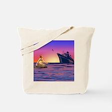Mermaid at Sunset Tote Bag
