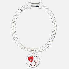 Heart with Stethoscope Bracelet