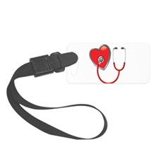 Heart with Stethoscope Luggage Tag