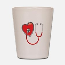 Heart with Stethoscope Shot Glass