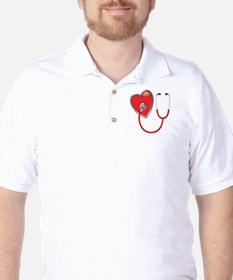 Heart with Stethoscope T-Shirt
