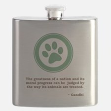 Gandhi Green Paw Flask