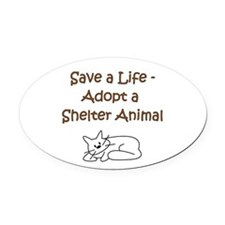 ShelterCat.png Oval Car Magnet
