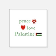Peace, Love and Palestine Sticker