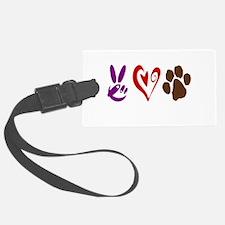 Peace, Love, Pets Symbols Luggage Tag
