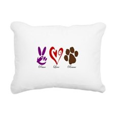 Peace, Love, Rescue Rectangular Canvas Pillow