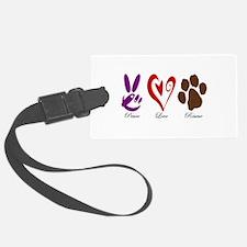 Peace, Love, Rescue Luggage Tag