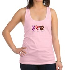 Peace, Love, Rescue Racerback Tank Top