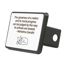 Gandhi Cat Quote Hitch Cover