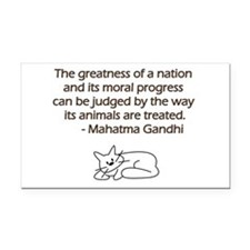 Gandhi Cat Quote Rectangle Car Magnet