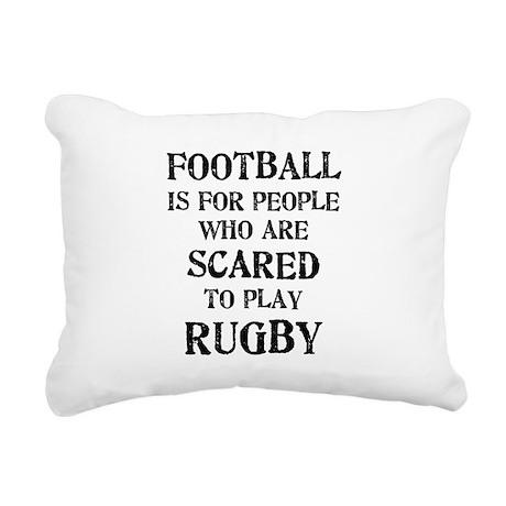 football_scared_2.png Rectangular Canvas Pillow