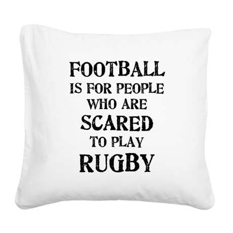 football_scared_2.png Square Canvas Pillow