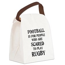 football_scared_2.png Canvas Lunch Bag