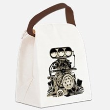 blower11.png Canvas Lunch Bag