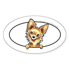 LH Chihuahua Peeking Bumper Decal