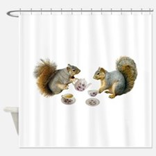 Squirrels Tea Party Shower Curtain