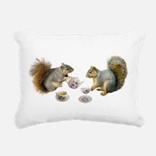 Squirrels Tea Party Rectangular Canvas Pillow