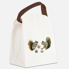 Squirrels Tea Party Canvas Lunch Bag