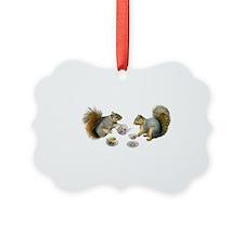 Squirrels Tea Party Ornament