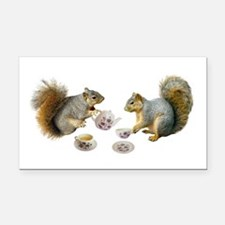 Squirrels Tea Party Rectangle Car Magnet