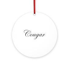 Cougar Ornament (Round)