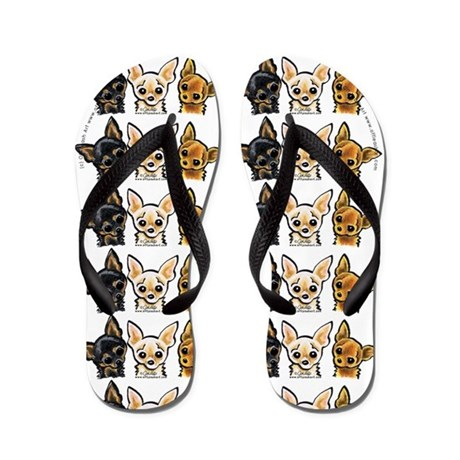 3 Smooth Chihuaha Flip Flops