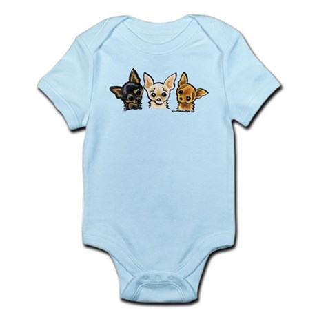 3 Smooth Chihuaha Infant Bodysuit
