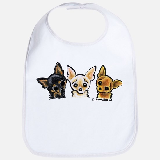 3 Smooth Chihuaha Bib