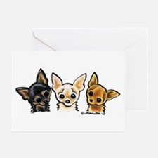 3 Smooth Chihuaha Greeting Card