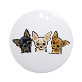 Chihuahua Round Ornaments