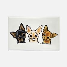 3 Smooth Chihuaha Rectangle Magnet